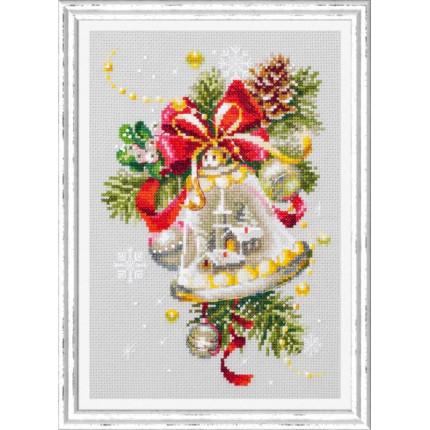 Набор для вышивания Рождественский колокольчик Набор для вышивания «Чудесная игла» 100-232 Рождественский колокольчик