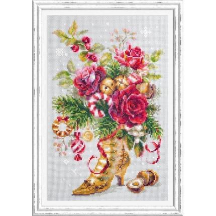 Набор для вышивания Рождественский сюрприз Набор для вышивания «Чудесная игла» 100-270 Рождественский сюрприз