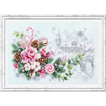 Набор для вышивания Рождественское настроение Набор для вышивания «Чудесная игла» 100-244 Рождественское настроение
