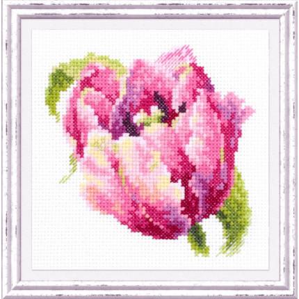 Набор для вышивания Розовый тюльпан Набор для вышивания «Чудесная игла» 150-013 Розовый тюльпан