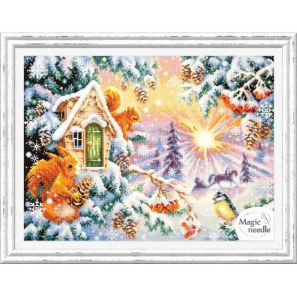"""Набор для вышивания Зимнее утро Набор для вышивания «Чудесная игла» 110-700 """"Зимнее утро"""""""