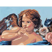 "Collection D`Art серия 10.000 Канва/ткань с рисунком ""Collection D`Art"" серия 10.000 40 см х 50 см 10304 Ангел"