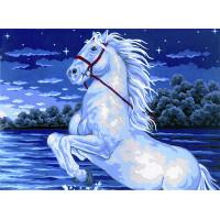 "Collection D`Art серия 10.000 Канва/ткань с рисунком ""Collection D`Art"" серия 10.000 40 см х 50 см 10363 Гарцующий конь"