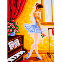 "Collection D`Art серия 10.000 Канва/ткань с рисунком ""Collection D`Art"" серия 10.000 40 см х 50 см 10369 Уроки танцев"