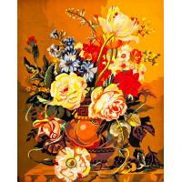 """Collection D`Art серия 11.000 Канва/ткань с рисунком """"Collection D`Art"""" серия 11.000 60 см х 50 см 11518 Цветы в греческой вазе"""