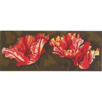 """Collection D`Art серия  9.000 Канва/ткань с рисунком """"Collection D`Art"""" серия 9.000 80 см х 35 см 9005 Махровые тюльпаны"""