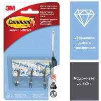 COMMAND 17067CLR RU Крючки самоклеящиеся COMMAND, КОМПЛЕКТ 3 шт., для столовых приборов, прозрачные, до 225 г, 17067CLR RU