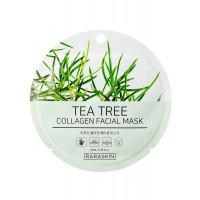 COSM CO RAA002(1) Коллагеновая тканевая маска для лица с экстрактом зеленого чая RARASKIN RAA002