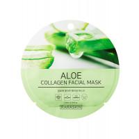 COSM CO RAA004(1) Коллагеновая тканевая маска для лица с экстрактом алоэ RARASKIN RAA004