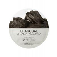 COSM CO RAA007 Коллагеновая тканевая маска для лица с экстрактом угля RARASKIN RAA007