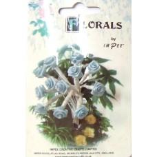 CF115/12 Букет роз из ленточек, бледно-голубой