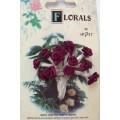 CF115/31 Букет роз из ленточек, бордовый