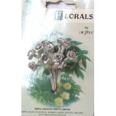 CF115/01 Букет роз из ленточек, серебряный