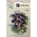CF115/29 Букет роз из ленточек, фиолетовый