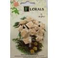 CF135/26 Букет роз из ленточек, кремовый