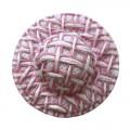 Шляпка соломенная, цвет - розовый, 8 шт/упак