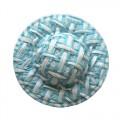 Шляпка соломенная, цвет - голубой, 8 шт/упак