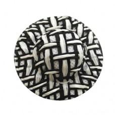 Шляпка соломенная, цвет - черный, 8 шт/упак