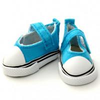 Прочие 25256 Кеды-туфли для кукол на лип., пара, цв. бирюза