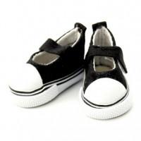 Прочие 25254 Кеды-туфли для кукол на лип., пара, цв. чёрн