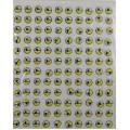 20762 Глазки клеевые,(желтый, черный зрачок на белом)