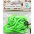 25387 Шнурки обувные для игрушек, зеленые