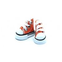 Прочие 26985 Кеды со шнурком 3,9 для кукол, цв. оранжевый