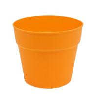 7724007 Мини-горшок цветочный пластиковый 3AS-199  (оранжевый)