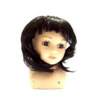 """Прочие 23626 Парик """"Прямой"""" для кукол , цв.Ч"""