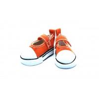 Прочие 26996 Кеды-туфли на 1-й липучке  для кукол,  пара, цв.оранж.
