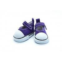 Прочие 26996 Кеды-туфли на 1-й липучке  для кукол, пара, цв.фиолет.