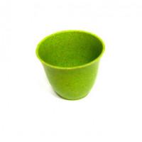 27071 Горшочек SN-13 декор., пластик, цв.зелён.