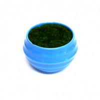 27085 Горшочек синий с иск.травой, ( пластик, иск.материал)