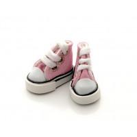 Pako 25230 Кеды со шнурком 3,9 для кукол, выс.3см., пара, цв. розовый