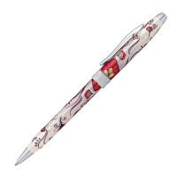 """CROSS AT0642-3 Ручка подарочная шариковая CROSS Botanica """"Красная колибри"""", лак, латунь, хром, черная, AT0642-3"""