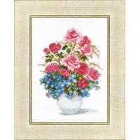 Crystal Art Набор для вышивания Crystal Art® ВТ-0023 Розы и незабудки Набор для вышивания Crystal Art® ВТ-0023 Розы и незабудки