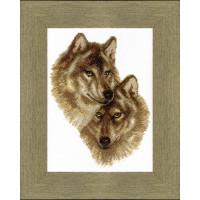 Crystal Art Набор для вышивания Crystal Art® ВТ-0058 Волк и волчица Набор для вышивания Crystal Art® ВТ-0058 Волк и волчица