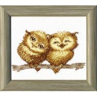 Crystal Art Набор для вышивания Crystal Art® ВТ-0059 Маленькие совушки Набор для вышивания Crystal Art® ВТ-0059 Маленькие совушки