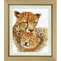 Crystal Art Набор для вышивания Crystal Art® ВТ-0068 Семья гепардов Набор для вышивания Crystal Art® ВТ-0068 Семья гепардов