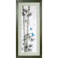 Crystal Art Набор для вышивания Crystal Art® ВТ-0074 Мотыльки в стеблях бамбука Набор для вышивания Crystal Art® ВТ-0074 Мотыльки в стеблях бамбука