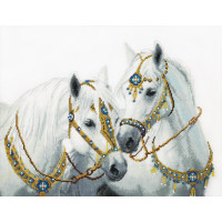 """Crystal Art ВТ-249_ЧМ Набор для вышивания крестом Crystal Art """"Свадебные лошади"""""""