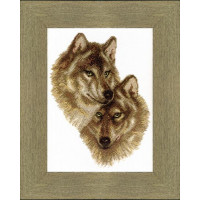 Crystal Art (Украина) ВТ-058 Волк и волчица