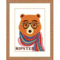 Crystal Art (Украина) ВТ-155 Медведь-хипстер