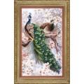 Crystal Art (Украина) ВТ-519 Два павлина в цветущей магнолии