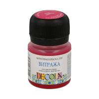 """DECOLA  """"DECOLA"""" Краска акриловая для витража 20 мл 4226322 розовая"""