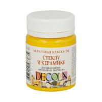 "DECOLA  ""DECOLA"" Краска по стеклу и керамике 50 мл 4028213 желтая светлая"