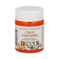 "DECOLA  ""DECOLA"" Краска по стеклу и керамике 50 мл 4028315 оранжевая"