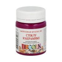 """DECOLA  """"DECOLA"""" Краска по стеклу и керамике 50 мл 4028334 розовая темная"""