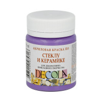 """DECOLA  """"DECOLA"""" Краска по стеклу и керамике 50 мл 4028605 фиолетовая светлая"""