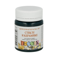 "DECOLA  ""DECOLA"" Краска по стеклу и керамике 50 мл 4028720 изумрудная"